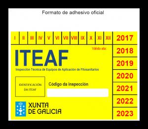 adhesivo oficial inspección equipos aplicación fitosanitarios Xunta